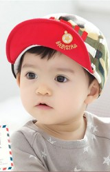 หมวกแก๊ปลายทหาร ด้านหน้าปัก BABY