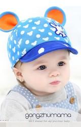 หมวกแก๊ปมิกกี้  ตัวหมวกสกีนลายมิกกี้ แต่งหูน่ารักจาก GZMM