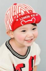 หมวกแก๊ปเด็กลายทาง ปักอักษร BEAR  จาก Lemonkid