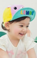 หมวกแก๊ปเด็กหน้าหมี ใต้ปีกหมวกแต่งอักษร LEMON จาก Lemonkid