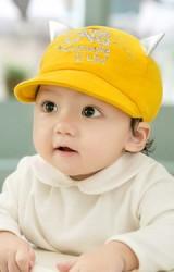 หมวกแก๊ปเด็ก ปักอักษร CATS แต่งหูน่ารัก จาก GZMM