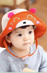 หมวกเด็กปีกกว้างหน้าหมีน้อย ดีไซน์น่ารัก