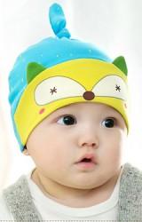 หมวกเด็กเล็กลายหน้าจิ้งจอก ด้านบนมีหางยาวๆ จาก GZMM