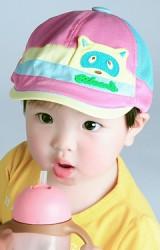 หมวกแฟล็ตแค็ปแต่งหน้าแร็คคูน