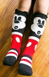 ถุงเท้าเด็กแบบยาวลายการ์ตูนมิกกี้