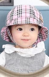 หมวกเด็กปีกรอบ(BUCKET) ลายสก๊อต