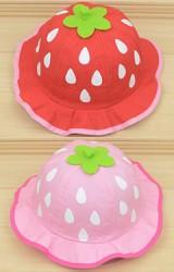 หมวกเด็กน่ารักลายสตรอเบอร์รี่