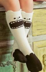 ถุงเท้าเด็กแบบยาวลายการ์ตูนปีศาจน่ารักๆ