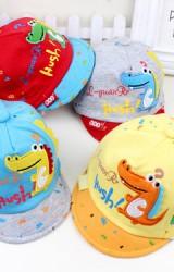 หมวกแก๊ปเด็กเล็กแต่งจระเข้น้อย ลายน่ารักๆ