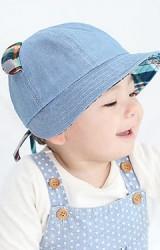 หมวกสียีนส์แต่งหูและใต้ปีกหมวกลายสก๊อต จาก GZMM