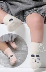 ถุงเท้าเด็กแบบสั้นหน้ารูปสัตว์แต่งหูดำเลื่อม ยี่ห้อ kacakid