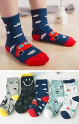 ถุงเท้าเด็กลายน่ารักๆ คละ 5 ลาย แพ็ค 5 คู่