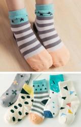 ถุงเท้าเด็ก คละ 5 ลาย แพ็ค 5 คู่