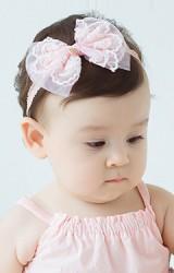 สายคาดผมเด็กหญิงรูปโบว์ลูกไม้สวย