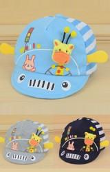 หมวกแก๊ปเด็กเล็กแต่งยีราฟ