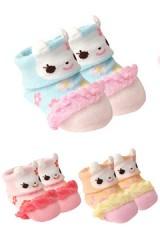 ถุงเท้าเด็กเล็ก แพ็ค 3 คู่ หน้ากระต่ายน่ารัก