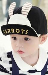 หมวกแก๊ปเด็กหน้ากระต่ายน้อย ปักอักษร CARROTS