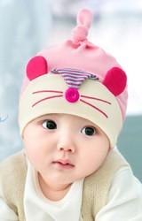หมวกนเด็ก ลาย HAPPY MOUSE BEANIE & BIBSET จาก GZMM