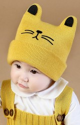 หมวกถักหน้าแมวหูตั้ง