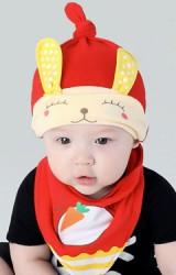 เซ็ตหมวกพร้อมผ้ากันเปื้อนกระต่ายหูยาว จาก YOYOTREE