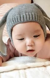 หมวกไหมพรมเด็กกระต่ายหูยาว ไม่มีซับ