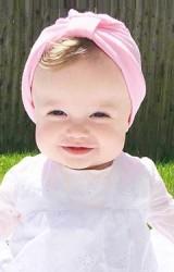 หมวกอินเดียสำหรับสาวน้อย ผ้ายืดสีพื้น
