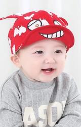หมวกแก๊ปเด็กหน้าการ์ตูนแต่งหูลายหัวใจละลาย จาก GZMM