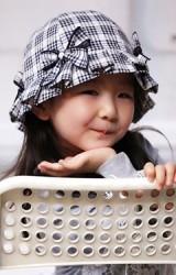 หมวกสาวน้อยลายสก๊อตแต่งโบว์หวาน