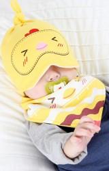 เซ็ตหมวกเด็กพร้อมผ้ากันเปื้อนลาย เป็ด หมี ลูกเจี๊ยบ จาก yoyotree
