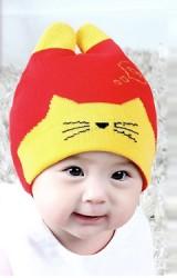 หมวกถักหน้าแมวเหมียวหูตั้ง