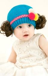 หมวกปอยผมเด็กผ้าไหมพรม แต่งปอมปอมสีสดใส จาก GZMM