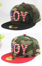 หมวกแก๊ปลายทหาร ปักอักษร BOY ปักหมวกสีพื้น