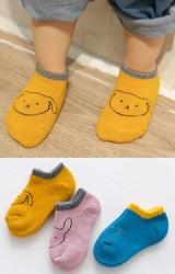 ถุงเท้าเด็กข้อสั้นแบบหนา แพ็ค 3 คู่ ลายกระต่าย
