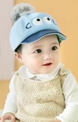 หมวกเด็กหน้าการ์ตูนน่ารัก ด้านบนแต่งปอมปอมฟูนุ่ม จาก GZMM
