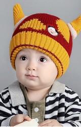 หมวกไหมพรมวัวน้อยแต่งเขาน่ารักจาก RIYUEHAO