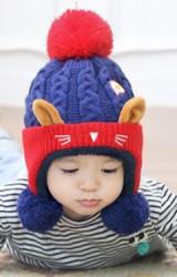 หมวกไหมพรมแมวเหมียวน่ารัก ซับผ้าขน