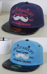 หมวกแก๊ปฮิปฮอปลายหนวดปักอักษร SHUTUP ANDLIFT