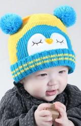 หมวกไหมพรมนกฮูกแต่งหูปอมปอมน่ารักจาก MOFABABI