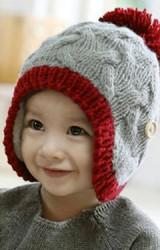 หมวกถักลายสวยตัดขอบและปอมปอมต่างสี หมวกไหมพรมจาก GZMM