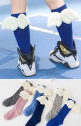 ถุงเท้าเด็กแบบยาวแต่งปีกเทวดา-นางฟ้า