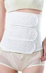 ผ้าคาดกระชับหน้าท้องหลังคลอด เนื้อผ้าฝ้ายนิ่มสีขาว
