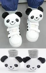 ถุงเท้าเด็กแต่งตุ๊กตาหมีแพนด้า