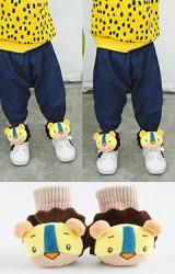 ถุงเท้าเด็กแต่งตุ๊กตาสิงโต