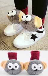 ถุงเท้าเด็กแต่งตุ๊กตาสุนัขเกรย์ฮาวนด์