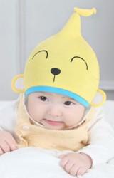 หมวกเด็กเล็กลายลิงปลายหมวกแต่งรูปกล้วย DANDY BEBE