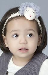 สายคาดผมเด็กหญิงแต่งหน้าตุ๊กตาช่วงผมฟูๆ ประดับมุก Angel Neitiri