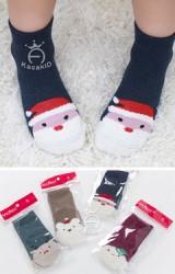 ถุงเท้าเด็กลายคริสต์มาส มีกันลื่น จาก Kacakid