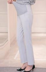 กางเกงคนท้องขายาวทรงสุภาพ ผ้ายืดหยุ่นมีนำหนัก