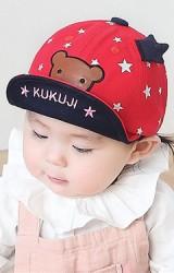 หมวกแก๊ปลายดาวแต่งหน้าหมีน้อย จาก KUKUJI