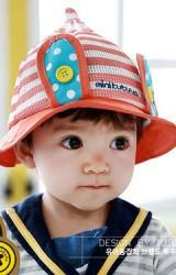 หมวกเด็กปีกรอบผ้าตาข่ายแต่งหูกระต่าย TUTUYA